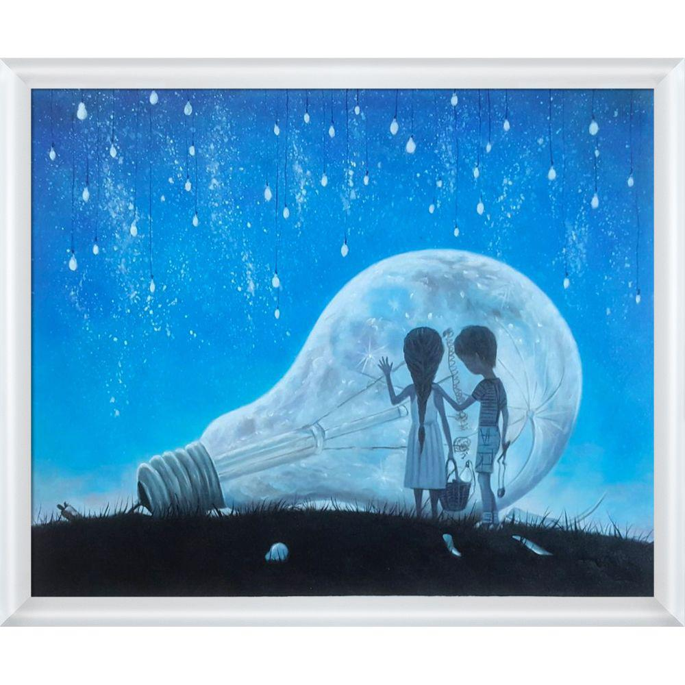 ArtistBe The Night We Broke The Moon Reproduction with Moderne Blanc Frameby Adrian Borda Canvas Print, Multi-color was $720.5 now $350.48 (51.0% off)