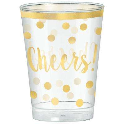 New Year's 3.75 in. Printed Plastic Tumblers (30-Count)