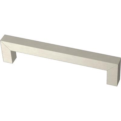 Modern Square Bar Pull 5-1/16 in. (128 mm) Stainless Steel Drawer Pull