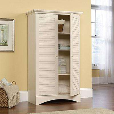 Cottage office Tiny Harbor View Antiqued Storage Cabinet Stephs Scribe Cottage Home Office Furniture Furniture The Home Depot