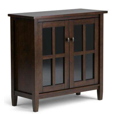 Warm Shaker Tobacco Brown Low Storage Cabinet