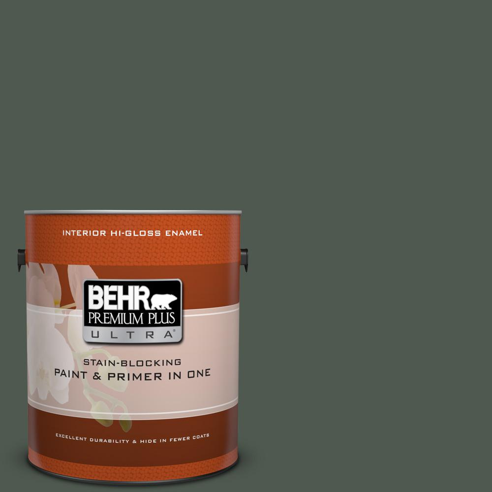 1 gal. #N410-7 North Woods Hi-Gloss Enamel Interior Paint