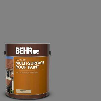 1 gal. #RP-34 Deep Gray Flat Multi-Surface Exterior Roof Paint