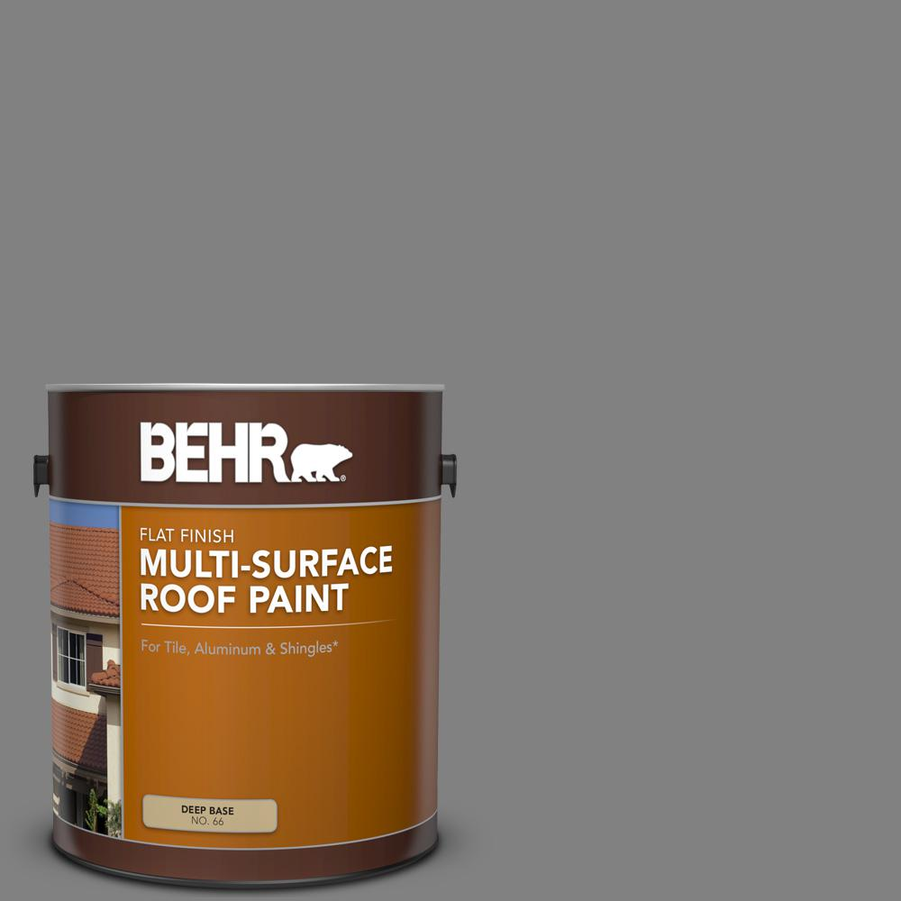 Gray Roof Paint: BEHR 1 Gal. #RP-34 Deep Gray Flat Multi-Surface Exterior