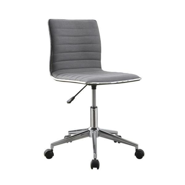 Contemporary Gray Fabric Upholstery Mid Back Desk Chair