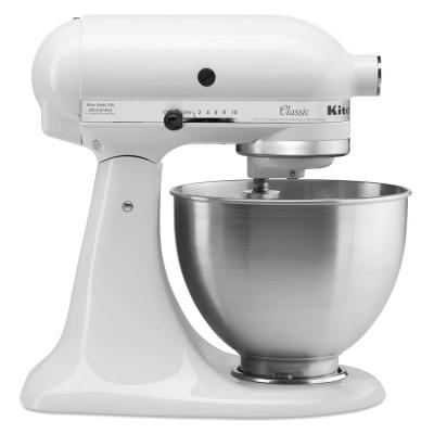 Classic Series 4.5 Qt. 10-Speed White Stand Mixer with Tilt-Head