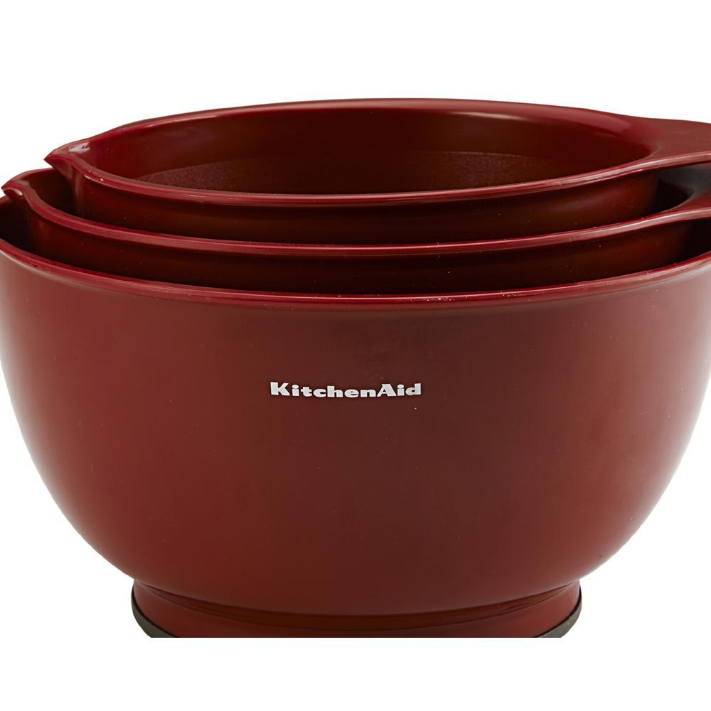 Internet 303319783 Kitchenaid Clic Red Mixing Bowls