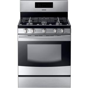 Samsung 30 inch 5.8 cu. ft. Gas Range with Self-Cleaning Oven and 5 Burner... by Samsung