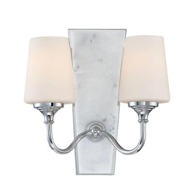 Lusso 2-Light Chrome Interior Wall Sconce