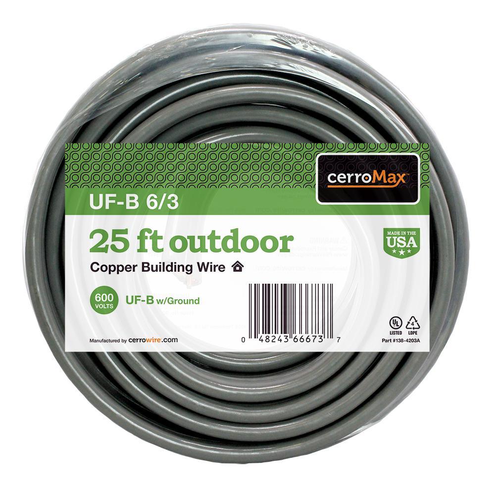 25 ft. 6/3 UF-B Wire