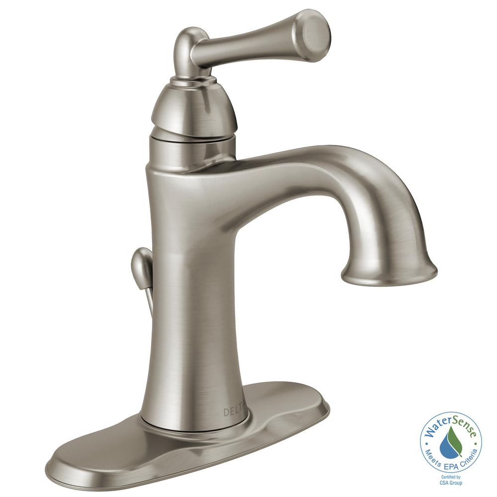Centerset Single Handle Bathroom Faucet In SpotShield Brushed Nickel