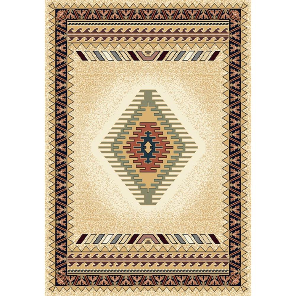United Weavers Tuscan Cream 5 ft. 3 in. x 7 ft. 6 in. Area Rug