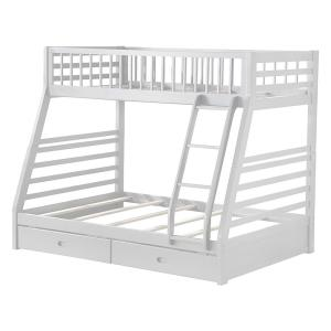 Amelia White Twin Bunk Bed with Solid Wood