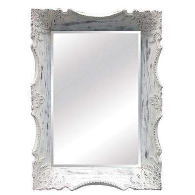 29 in. x 41 in. White Victorian Rectangle Frame Wall Mirror