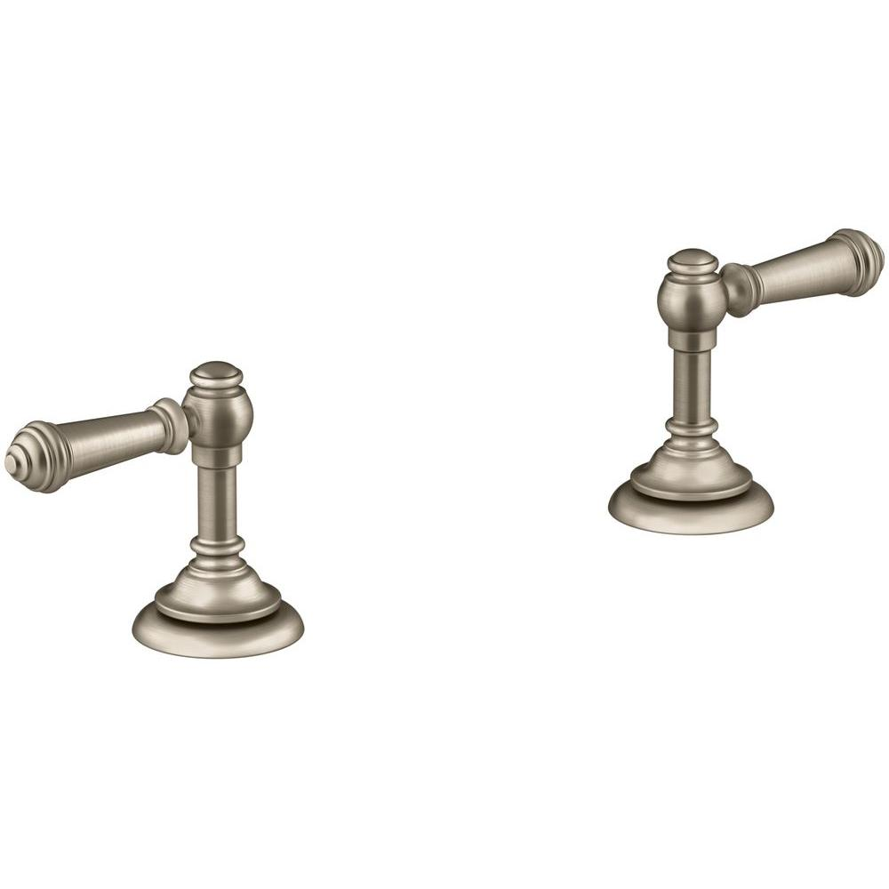 Grohe arden lever handles in brushed nickel 18083en0 the for Vibrant brushed bronze bathroom lighting