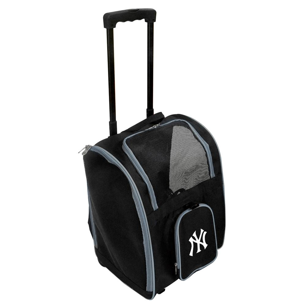 6617f9181e Denco MLB New York Yankees Pet Carrier Premium Bag with wheels in  Gray-MLYKL902 - The Home Depot