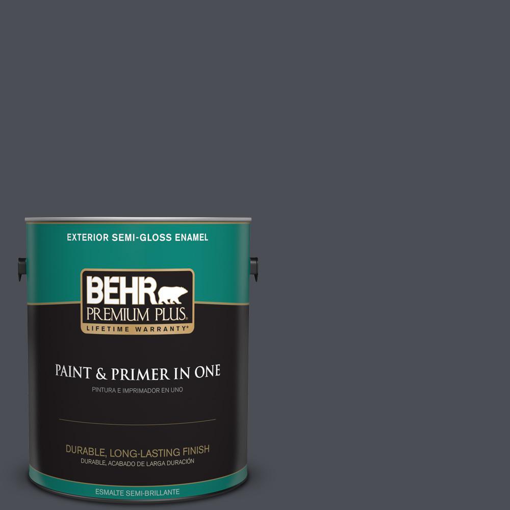 1 gal. #PPU15-20 Poppy Seed Semi-Gloss Enamel Exterior Paint
