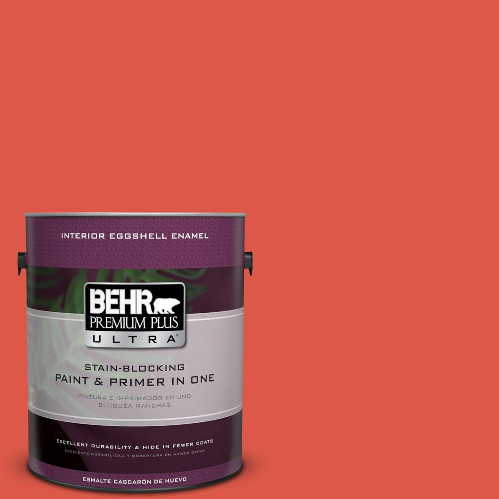 BEHR Premium Plus Ultra 1-gal. #T12-7 Red Wire Eggshell Enamel Interior Paint