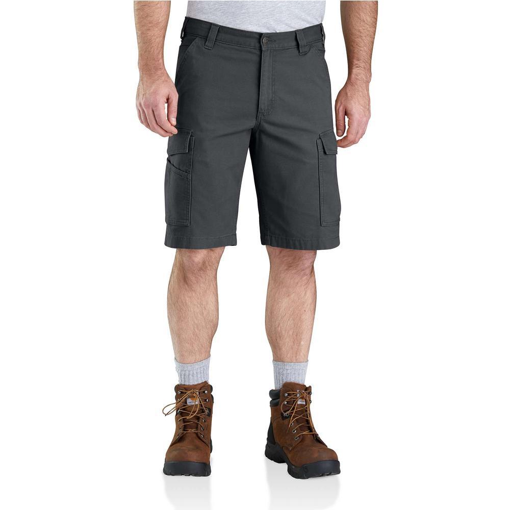 2128bd5221 Carhartt. Men's 42 in. Shadow Cotton/Spandex Rugged Flex Rigby Cargo Short