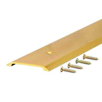 Flat Top 2-1/2 in. x 40 in. Brite Gold Aluminum Saddle Door Threshold