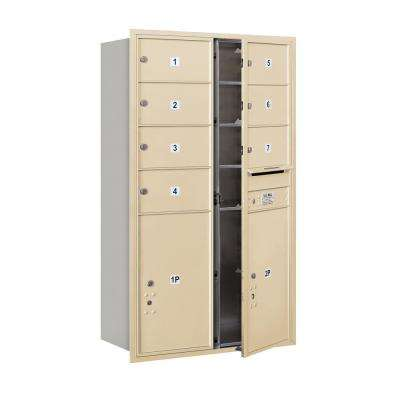 3700 Horizontal Series 7-Compartment with 2-Parcel Locker Recessed Mount Mailbox