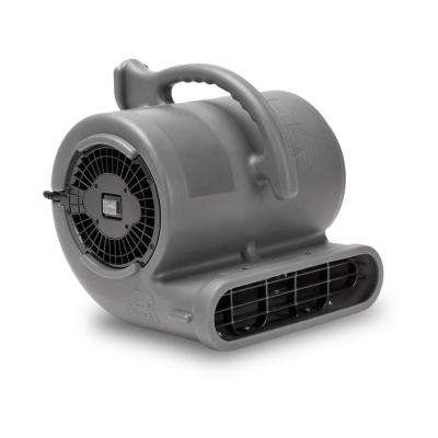 1/2 HP 2820 CFM Air Mover for Janitorial Water Damage Restoration Stackable Carpet Dryer Floor Blower Fan, Grey