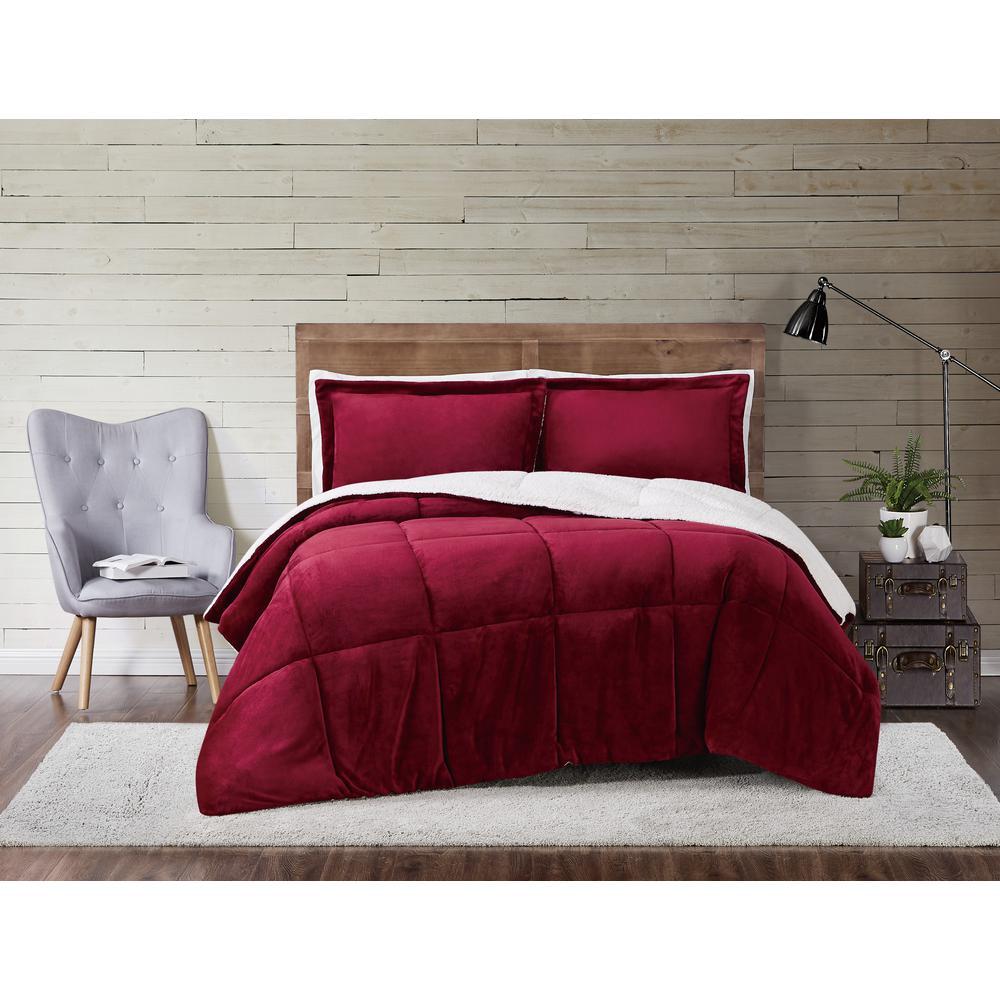 Cuddle Warmth Cabernet King Comforter Set