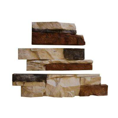 Go-Stone #18 Coastal Blend Flats 4 in. x 8 in., 4 in. x 12 in., 4 in. x 16 in. Stone Panels (5 sq. ft./Box)