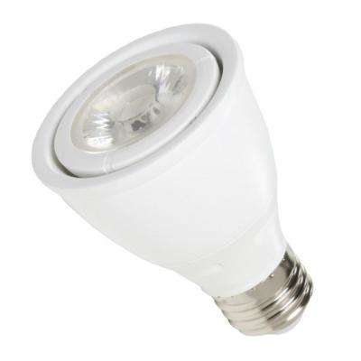 50-Watt Equivalent 7-Watt White PAR20 Dimmable ENERGY STAR Narrow Flood LED Light Bulb Soft White 3000K 83043