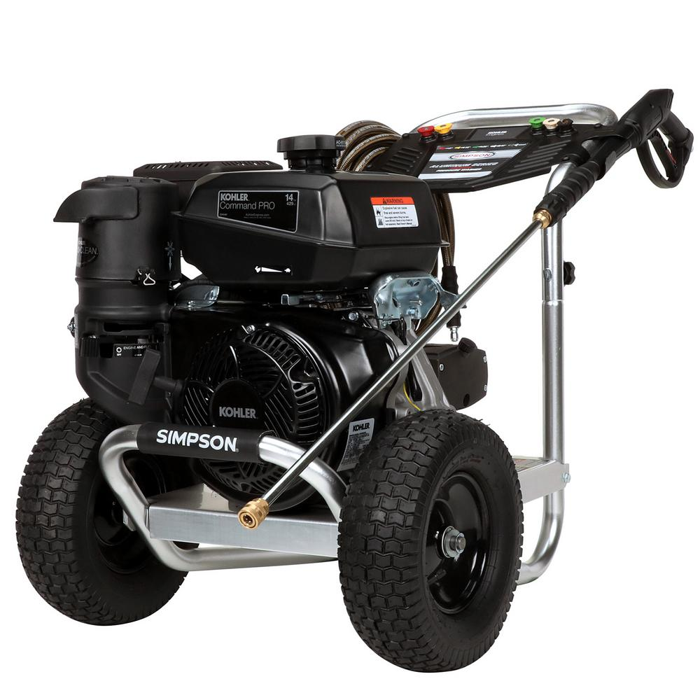 Simpson Aluminum 4400 PSI at 4.0 GPM KOHLER CH440 with AAA Triplex Pump Professional Gas Pressure Washer