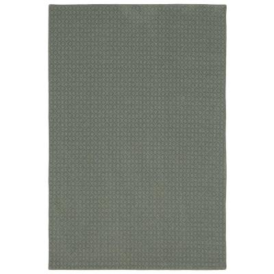Pattern Sawyer Meandering Texture 6 ft. x 9 ft. Bound Carpet Rug