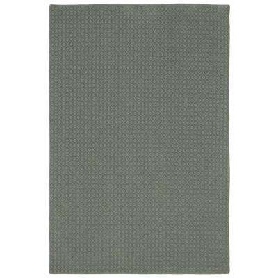Pattern Sawyer Meandering Texture 9 ft. x 12 ft. Bound Carpet Rug