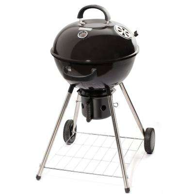 18 in. Kettle Charcoal Grill in Black