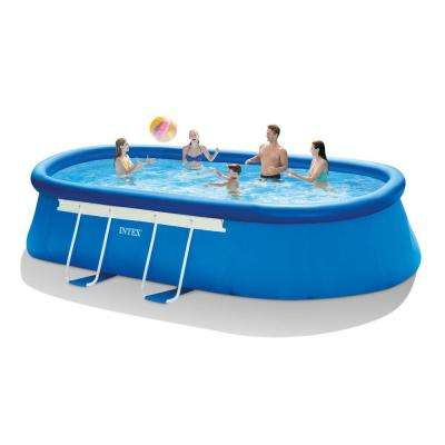 18 ft. Long x 10 ft. Wide x 42 in. Deep Oval Frame Pool Set