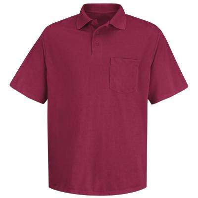Men's Size 2XL Burgundy Polyester Solid Shirt