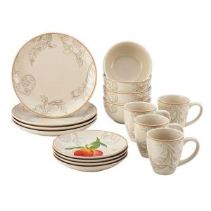 Click here to buy Paula Deen Orchard Harvest Stoneware 16-Piece Dinnerware Set by Paula Deen.