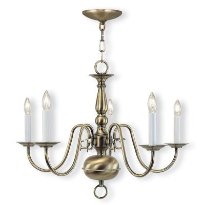 Williamsburgh 5-Light Antique Brass Chandelier