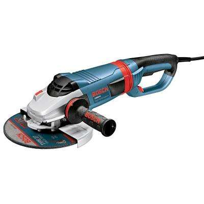 15 Amp Corded 9 in. Large Angle Grinder with No Lock-On Switch