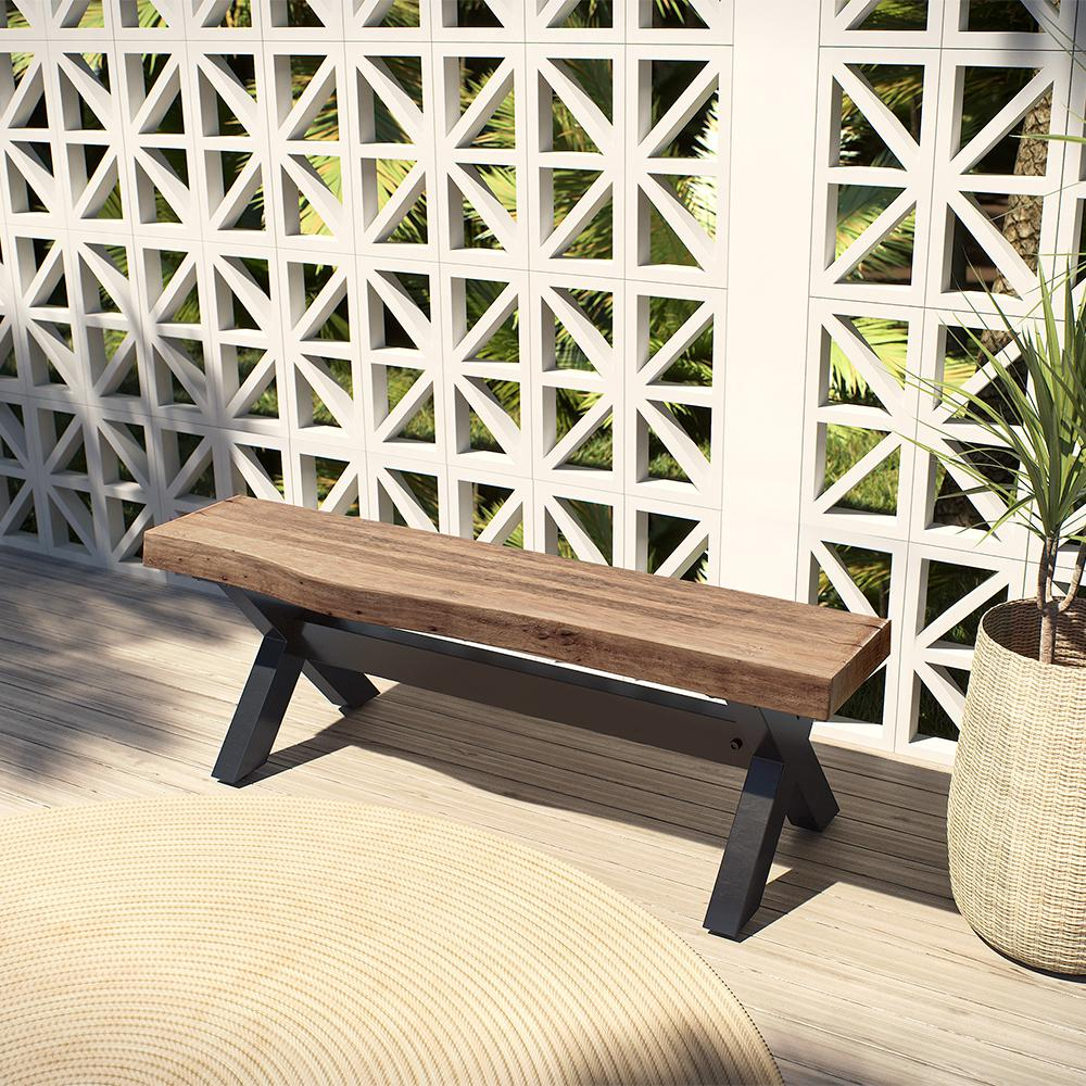 Fine Ove Decors Bali 48 In Aluminum Outdoor Bench Evergreenethics Interior Chair Design Evergreenethicsorg