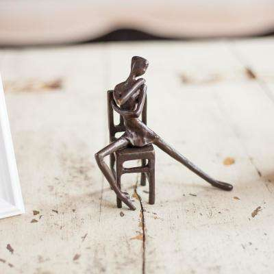 Danya B. Ballerina on Chair Bronze Sculpture