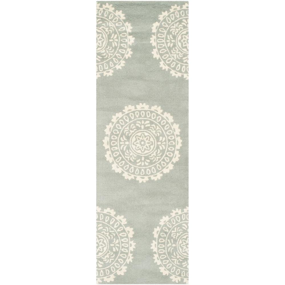 Safavieh Bella Grey/Ivory 2 ft. 3 in. x 7 ft. Runner