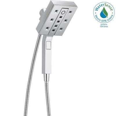 In2ition 4-Spray Two-in-One Hand Shower and Shower Head Combo Kit with H2Okinetic in Chrome