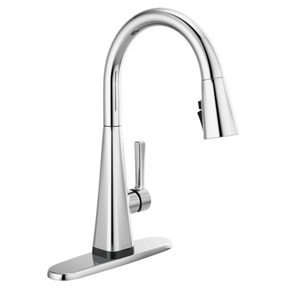 Lenta Touch Single-Handle Pull-Down Sprayer Kitchen Faucet with ShieldSpray Technology in Chrome