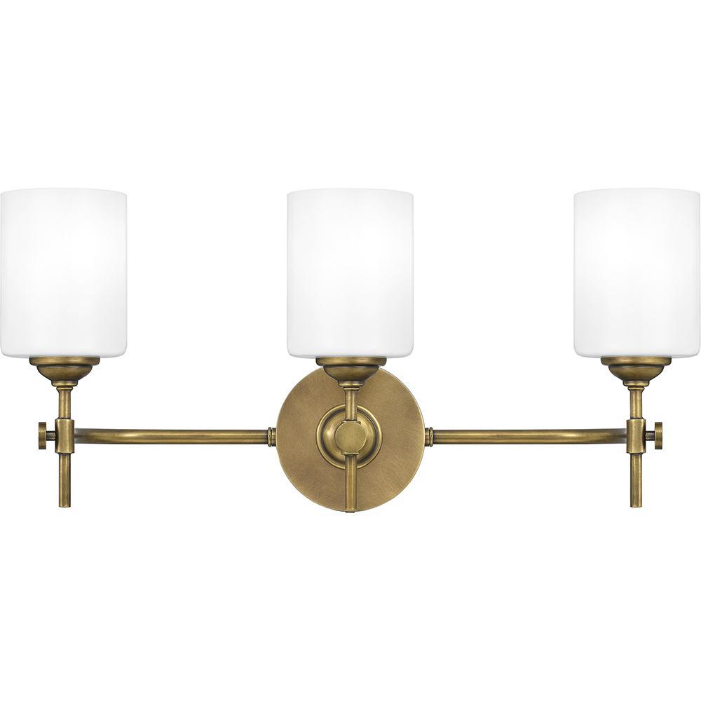 Aria 3-Light Weathered Brass Vanity Light