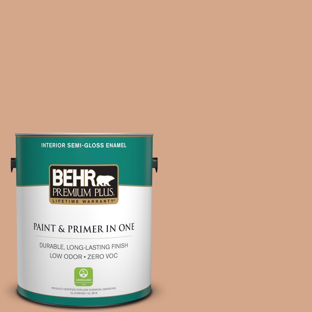 1 gal. #PPU3-11 Autumn Air Zero VOC Semi-Gloss Enamel Interior Paint