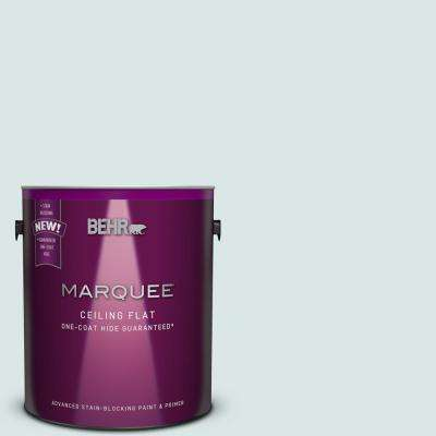 1 gal. #MQ3-51 Tinted to Crystalline Falls One-Coat Hide Flat Interior Ceiling Paint and Primer in One