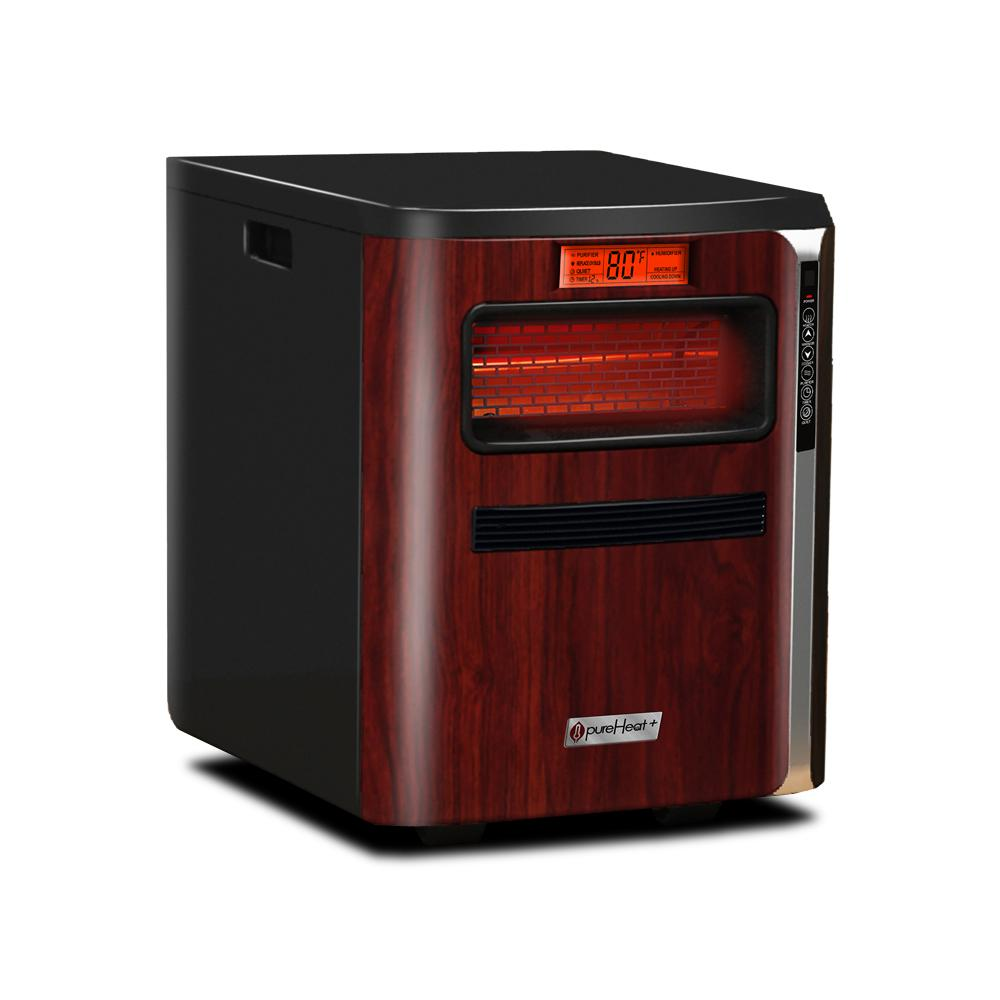 1,500-Watt Positive Thermal Coefficient Portable Heater with Air Purifier,