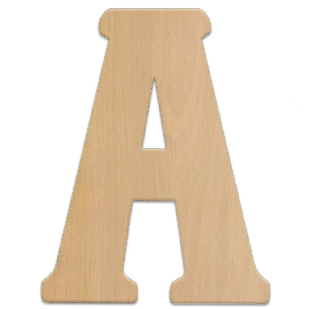 jeff mcwilliams designs 15 in oversized unfinished wood letter a 300304 the home depot. Black Bedroom Furniture Sets. Home Design Ideas