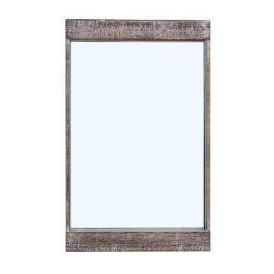 Magnolia Ranch 32 x 20 in. Distressed Wood Framed Rectangular Wall Mirror