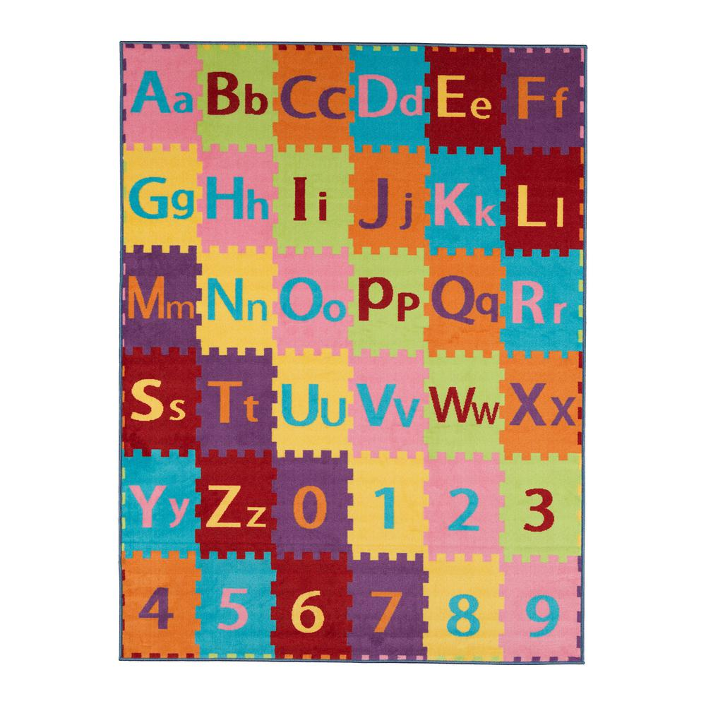 Letters Garden: Ottomanson Children Garden's Collection Multi Color
